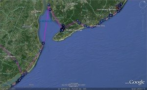 Assateague's movements from Dec. 17 to Jan. 2, from Maryland up the New Jersey coast.